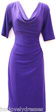 Ralph Lauren cowl neck ruched waist elegant occasion semi formal dress sz 8