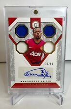 Patrice Evra Manchester United Autograph Match-Worn Jersey Patch 36/50! Juventus