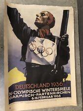 Plakat der Olympischen Winterspiele 1936 Garmisch Patenkirchen Ludwig Hohlwein