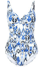 SS110 Ex Marks and Spencer Secret Slimming Ruched Printed Tankini Top 10-20