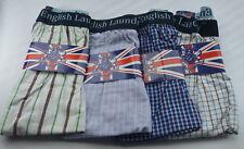 4 Pack ENGLISH LAUNDRY Check Boxer Shorts Underwear XL 31-34 100% Cotton NWT dd