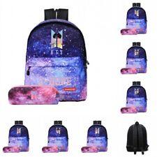 Fashion Bangtan Boys BTS Starry Purple Backpack Shoulder Bag School Travel 2pcs