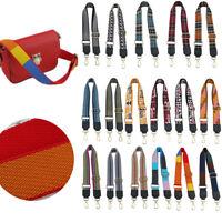 Embroidery Adjustable Canvas Shoulder Bag Belt Strap Replacement Handbag Purse