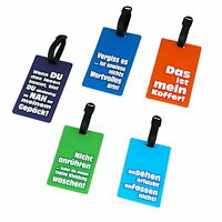 5 Stück Kofferanhänger Kofferschilder Koffer Anhänger mit Namensschild Reisen