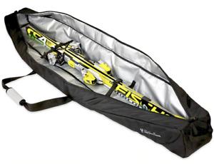 Spire Pro Ski Travel Bag   Holds Single Pair   Black Waterproof Padded Carrier