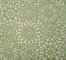 Amazing Lace BTY Studio 8 Quilting Treasures Green White 100% Cotton Screenprint