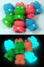 Glow-in-the-Dark School Erasers - FROGS - Glowing Kids Eraser Set ~ Anime