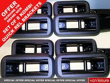 8 VW Transport Shuttle T5 T6 rear seat floor mount brackets quick release kombi