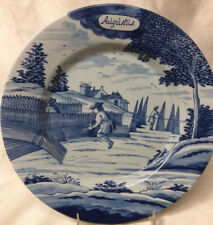 "DELFT HOLLAND METROPOLITAN MUSEUM OF ART MONTH OF YEAR AUGUST PLATE 9 1/4"" MMA"