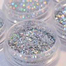 5Pot/Set Silver Flake Chunky Glitter Pots Nail Face Eye Shadow Tattoo Body Dance