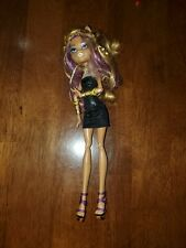Monster High Clawdeen Wolf Doll in black dress with gold jewels