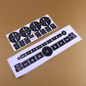21×Radio & 31× AC Dash Control Button Sticker Decal Set fit for GM Chevrolet se