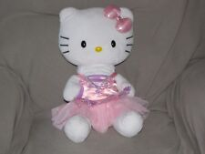 Build a Bear Hello Kitty White with Pink Shimmery Bow 18in. Teddy Doll Plush