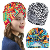 Women India Muslim Ruffle Cancer Chemo Hat Beanie Scarf Turban Head Wrap Cap