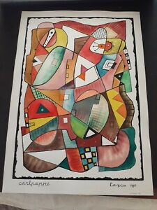 """listed artist original Carl Pappe """"Taxco"""""""