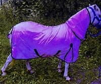 New Mini Shetland Pony Mesh fly rug combo attached neck Purple Value for Money