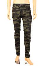 Victorious Mens Skinny Jeans Stretch Denim Pants Color Pencil Slim Taper Fit New