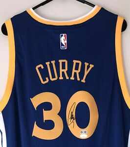 Stephen Curry Signed Golden State Warriors Autographed NBA Jersey JSA USASM COA