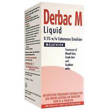 Derbac-M Treatnebt if Head Lice, Crab Lice and Scabies Mite 200ml