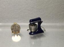 Dollhouse Miniature Large Dark Blue Metal Mixer