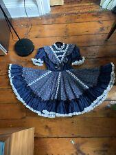 New listing vintage sundress Scandinavian handcrafted ruffles M / L
