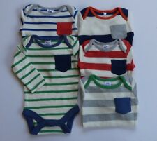 BABY BODEN BOYS SINGLE STRIPE VESTS BODYSUIT/ BODY LONG SLEEVED  BNWOT