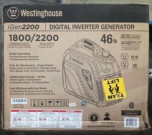 Westinghouse Digital Inverter Generator iGen2200 1800/2200 46lb Blue 101833Rev01