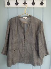 Eileen Fisher Womens XL 16 18 Brown Black Heathered Linen Jacket Career Work