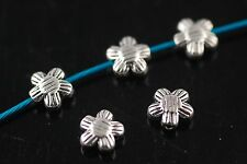 50Pcs Charms rondelle bead Crafts Jewelery Finding Spacer Flower Loose Beads 7mm
