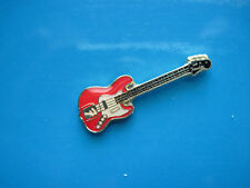 ELECTRIC RED  Guitar - hat pin, tie tac