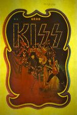 KISS glitter new group aucoin vintage retro tshirt transfer print new, NOS