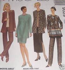 EASY wardrobe pattern skirt jacket size 8,10,12 top