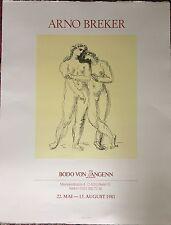 Breker Arno Plakat auf Bütten Marco Paris Bodo von Langenn 1981 Berlin