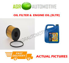 PETROL OIL FILTER + FS PD 5W40 ENGINE OIL FOR ALFA ROMEO MITO 1.4 155 BHP 2008-