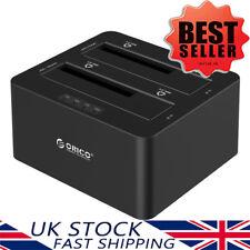 "ORICO USB 3.0 2 Bay Hard Drive Docking Station Disk Clone 2.5/3.5"" SATA HDD/SSD"