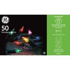 GE 50ct CONSTANTON mini Christmas string Lights G.E. MULTI COLOR multicolored