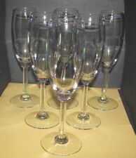 6 Libbey Champagne Flutes 8795 Napa Country Pattern Wine Clear Lot Appear Unused