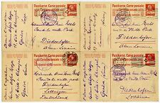 SWITZERLAND WW1 CENSORS on STATIONERY to ALSACE LORRAINE 4 CARDS 1916-17