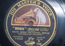 """78rpm 12"""" STATE OPERA ORCH BERLIN mignon overture [ thomas ] 1&2"""