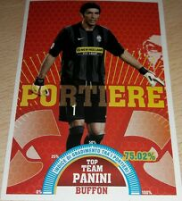 AGGIORNAMENTO FIGURINA CALCIATORI PANINI 2007/08 JUVENTUS BUFFON T1 ALBUM 2008