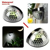 2PC Solar Power Garden Lights 6 LED Light Outdoor Landscape Wall Path Fence Lamp