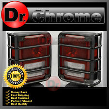 07-16 Jeep JK Wrangler Black Stainless Metal Euro Taillight Lamp Guard Cover Set
