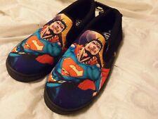 """NWT - Men's DC Comics """"SUPERMAN"""" Canvas Slip On Deck Shoes SIZE - 9"""