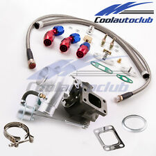 New T3 T4 T04E TO4E Turbocharger Oil inlet outlet Return FEED Line turbo kit