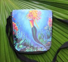 "Pop Art Mermaid Girls small purse with interchangable flap. 9""x 7""."