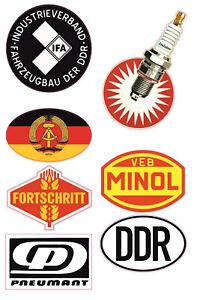 DDR Aufkleber Set Ossi IFA Oldtimer VEB Minol Simson Trabant Wartburg Lada #693