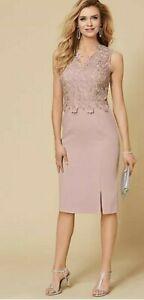 BNWT Kaleidoscope Guipure Lace Bodice Dress Pink Blush Size UK 20