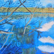 Terry George painting of the lake at Felbrigg Norfolk
