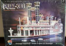 Wrebbit Puzz 3D - Mississippi Steamboat - New Sealed in Box - 718pc