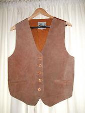 Unbranded Suede Button Waist Length Waistcoats for Women